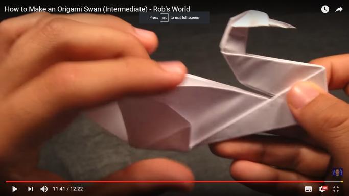 Origami Swan (Intermediate) How to make it? - YouTube   384x683